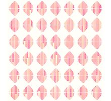Summer Coral Pink Triangle Brush Stroke Stamps Photographic Print