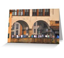 Bridge over the Arno Greeting Card