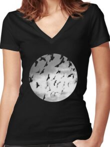Bad Moon Women's Fitted V-Neck T-Shirt