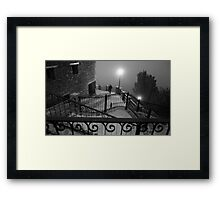 A stranger in the fog Framed Print