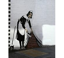 Banksy maid  Photographic Print
