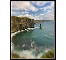 zoom cliffs of moher, county clare, ireland Photographic Print