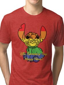 Rainbow Stitch - Happy Hour Tri-blend T-Shirt