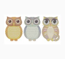 2 Owls & Big-Eyed Cat Kids Clothes