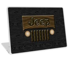 Wooden Jeep Willys ~ Black [Update] Laptop Skin
