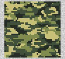 8 Bit Pixel Woodland Camouflage Kids Clothes