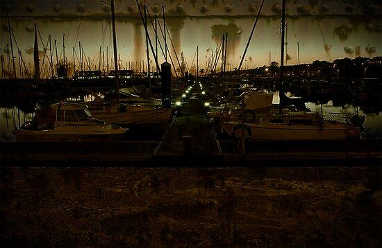 Atardecer en el puerto de mazagon by F. J. Márquez