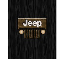Jeep Willys ~ Wood [Black] Photographic Print