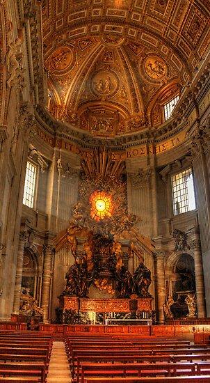 St.  Peter's Basillica by Angela King-Jones