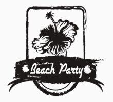 hibiscus beach party Kids Tee