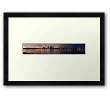 Perth Panorama Framed Print