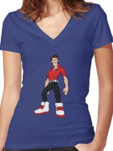 Big Shoes (red) Women's Fitted V-Neck T-Shirt