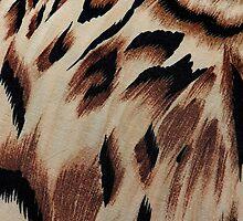 Vintage brown black abstract animal print pattern by Maria Fernandes