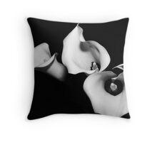 Calla #9 Tumbling and dancing their wares Throw Pillow
