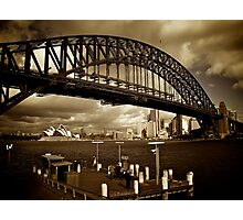 The Sydney Harbour Bridge from Milsons Point, June 2009 Photographic Print