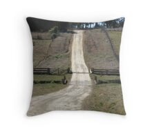 The Long  Country Road Throw Pillow