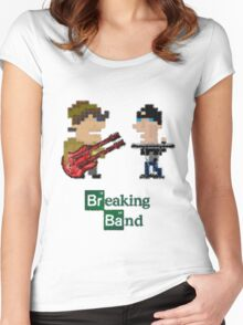 Cubism Breaking Band Women's Fitted Scoop T-Shirt