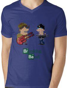 Cubism Breaking Band Mens V-Neck T-Shirt