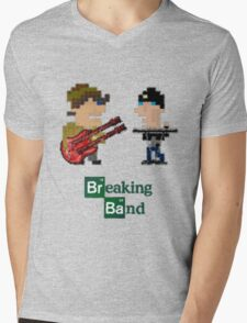 Cubism Breaking Band Mens V-Neck T-Shirt
