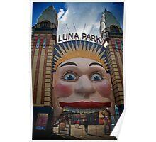 Luna Park and Abel, Milsons Point, Sydney 2009 Poster