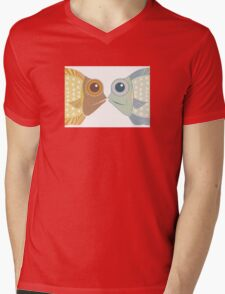Fish Greetings Mens V-Neck T-Shirt
