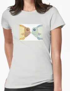 Fish Greetings Womens Fitted T-Shirt