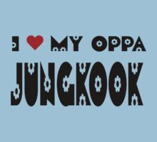 I HEART MY OPPA JUNGKOOK - BLUE Kids Clothes