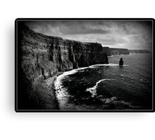 Ireland, Cliffs of Moher, County Clare. B&W treatment. Canvas Print