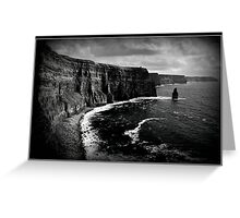 Ireland, Cliffs of Moher, County Clare. B&W treatment. Greeting Card