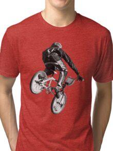 Biking Big Air  Tri-blend T-Shirt