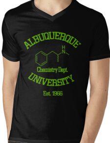 Breaking Bad - Albuquerque University Green Mens V-Neck T-Shirt