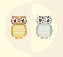 Two Owls by Jean Gregory  Evans