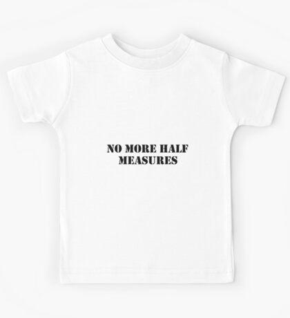 Half measures black Kids Tee