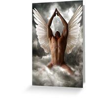 Angel of prayers Greeting Card