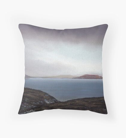 View from Knockamany bends,Co Donegal,Ireland. Throw Pillow