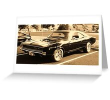 1968 Dodge Charger. Greeting Card