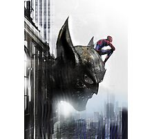 Spiderman and Wolverine - avengers and X-Men Photographic Print