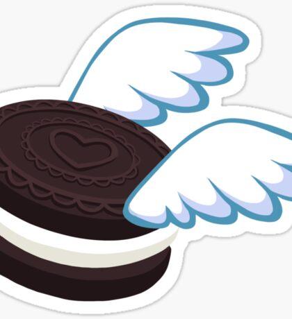 Just a Flying Cookie Sticker in Chocolate Sandwich Sticker