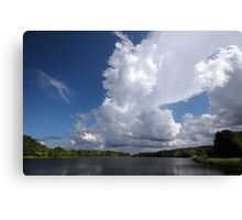 The sky and water Canvas Print