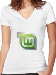 Linux Mint Women's Fitted V-Neck T-Shirt