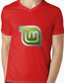Linux Mint Mens V-Neck T-Shirt