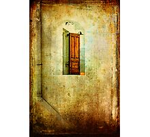 Greek window with tomato Photographic Print
