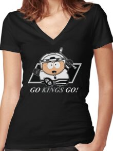 Go Kings Go! Women's Fitted V-Neck T-Shirt