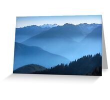 Hurricane Ridge at sundown. Olympic National Park. Washington State. USA. Greeting Card
