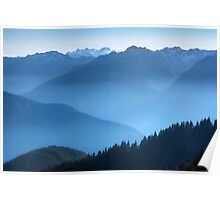 Hurricane Ridge at sundown. Olympic National Park. Washington State. USA. Poster