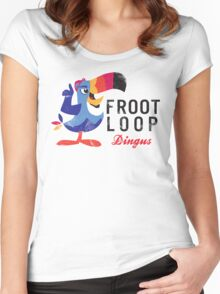 Fruit Loop Dingus Women's Fitted Scoop T-Shirt
