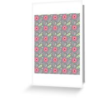 Pretty Modern Flowers Illustration Greeting Card