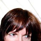 Portrait - Close Crop of Female Face by Lynn Ede