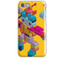 retro robot in style iPhone Case/Skin