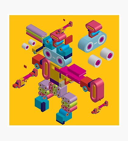 retro robot in style Photographic Print